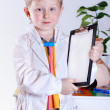 Little boy with medical tools — Stock Photo