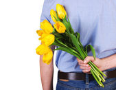 Flowers for surprise — Stock Photo