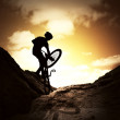 Stock Photo: Extreme bike sport