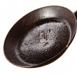 Dirty oily  pan after frying — Stock Photo