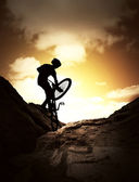 Extreme bike sport — Stock Photo