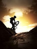 極端な自転車スポーツ — ストック写真