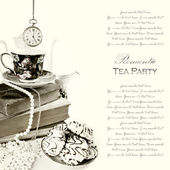 Romantic Tea Party Background — Stock Photo