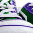 Fashion sneakers closeup view — Stock Photo