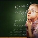 Clever pupil boy portrait — Stock Photo