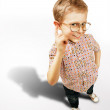 Stock Photo: Pretty curios boy portrait