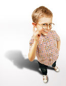 Pretty curios boy portrait — Stock Photo
