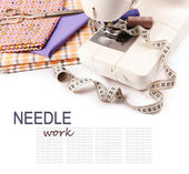 Needle work hobby background — Stock Photo