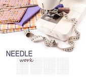 Needle work hobby background — Stock Photo