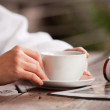 Relaxing morning time — Stock Photo