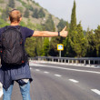 Hitchhiking travel — Stock Photo