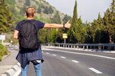 Hitchhiking travel — Stock Photo