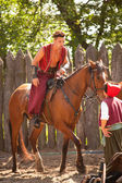 Cossack on the horse — Stock Photo