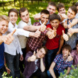 Group of happy smiling boys — Stock Photo