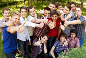 Group of happy smiling boys — Stockfoto