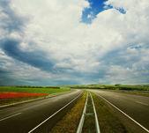 Empty road landscape — Stock Photo