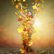 Golden Lady Autumn 2 — Stock Photo