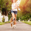 Active walk with pet — Stock Photo #27185237