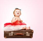 Adorable baby girl portrait — Stock Photo