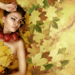 Stock Photo: Perfect lady Autumn