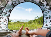 Paradise in tent — Stock Photo
