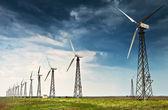 风能源发电机站 — 图库照片