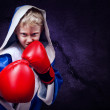 Boxing fighter portait — Stock Photo