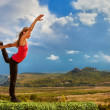 Yoga practice outdoor — Foto Stock