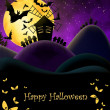 Stock Photo: Happy Halloween Postcard