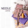 Needlework background — Stock Photo