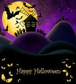Happy Halloween Postcard — Stock Photo