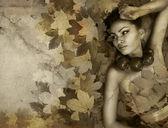 Perfekt lady hösten — Stockfoto