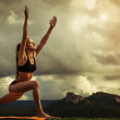 Surya Namaskara - Sun Salutation — Stock Photo