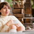 Relaxing young woman portrait — Stock Photo