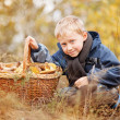 Little boy autumn portrait — Stock Photo