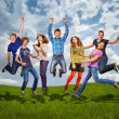 Happy teenage friends — Stock Photo