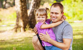 Father with little daughter — Stock Photo