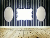 Stripe wallpaper background with vintage tags frame — Stock Photo