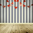 Wallpaper background with pennants festoon — Stock Photo #38762657