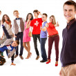 Group of happy smiling young people — Stock Photo #38762671