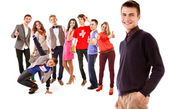 Group of happy smiling young people — Stock Photo