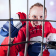 Hockey player victory triumph — Stock Photo #39427601