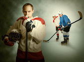 Ice hockey game moment — Stock Photo