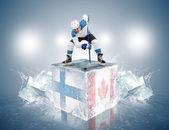 Hockey Finland - Canada — Stock Photo