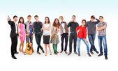 Teenage friends big group — Stock Photo