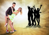 We love to dance all time — Stock Photo