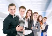 Group of positive young people  — Стоковое фото