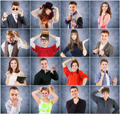 Young people emotional portraits — Stock Photo