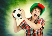Portuguese fan — Stock Photo