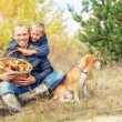 Family leisure in autumn forest — Stock Photo #50452785